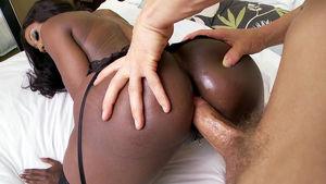 black mom anal