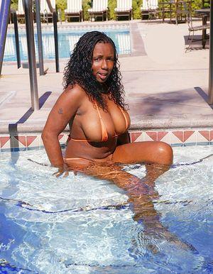 big tits bikini blowjob
