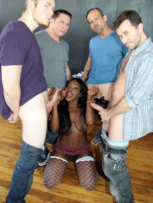 black whore gangbang