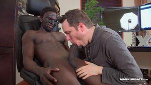 white men sucking big black cock