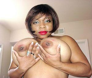 big tits black milf