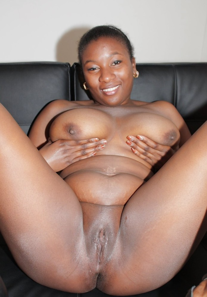 Young black girl naked on webcam