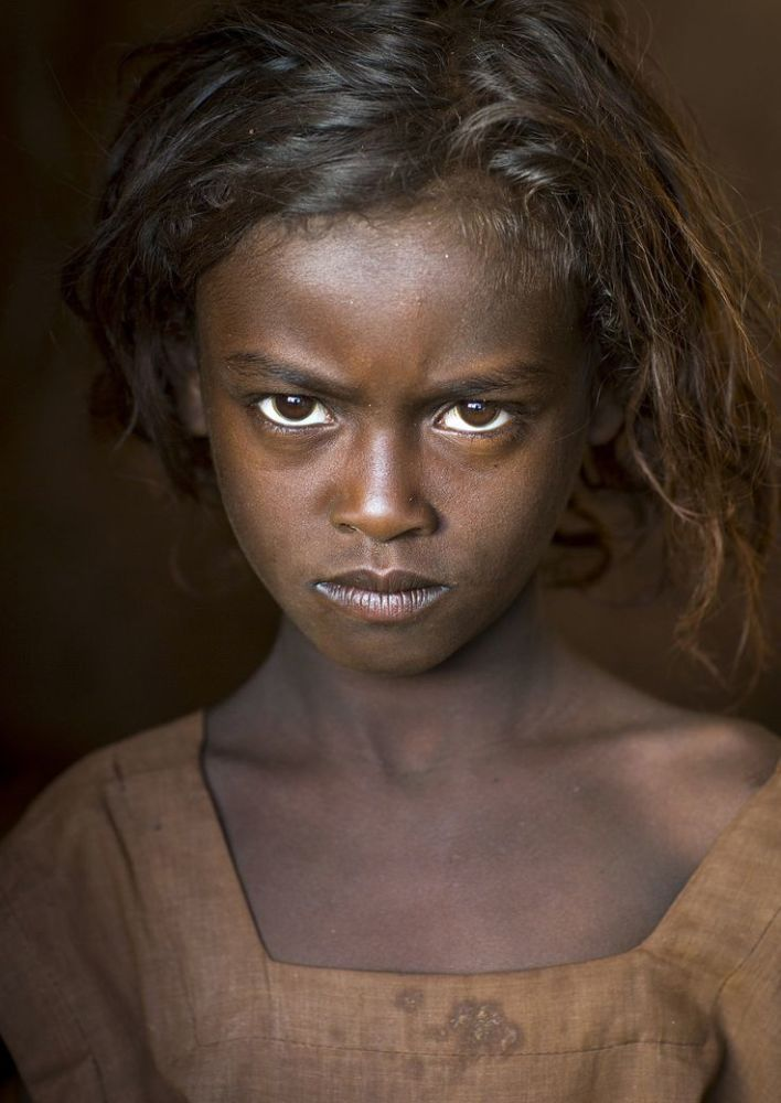 Borana Tribe Girl, Marsabit District, Marsabit, Kenya Gente