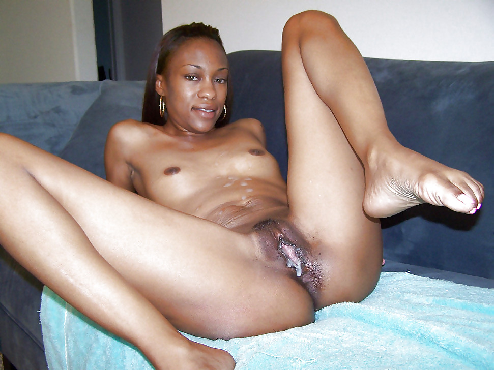 African hairy creampie