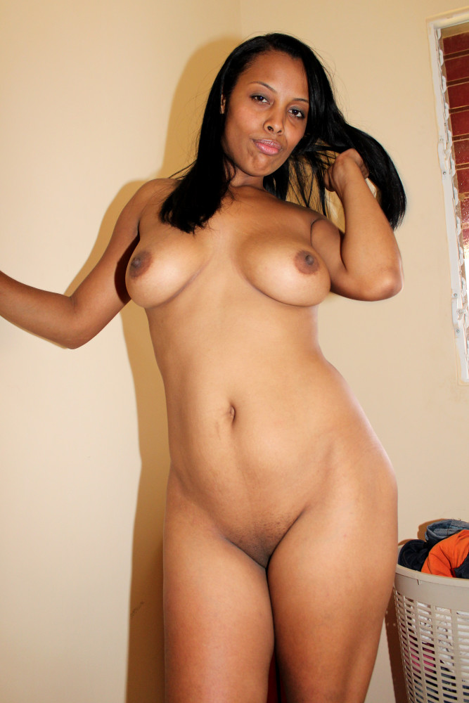 Young thick black girl naked