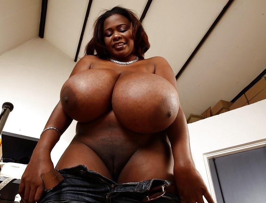Big ass big tits black woman