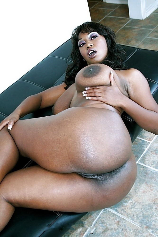 Ebony big ass tube