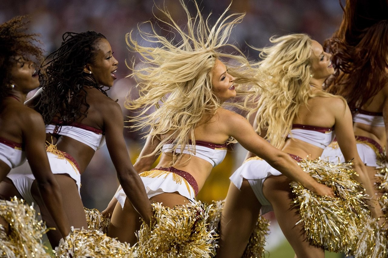 Redskins cheerleaders topless photo shoots, club