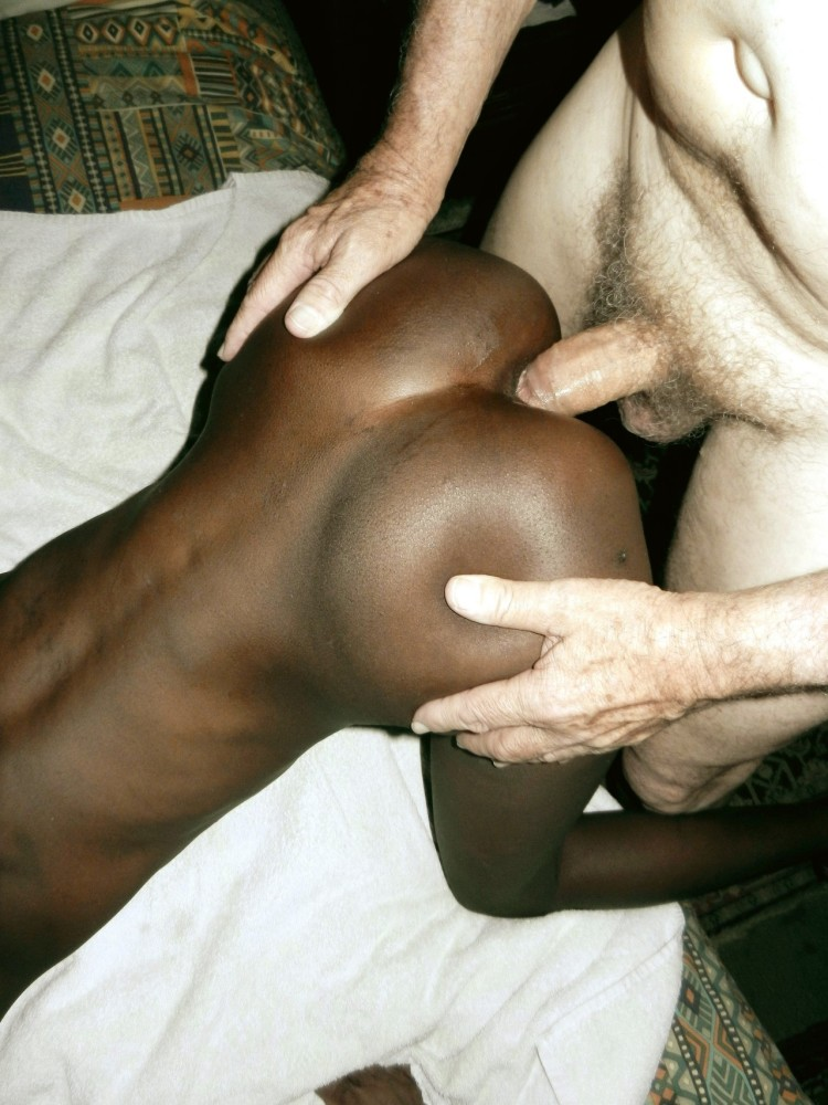 Watch black africans on white cock