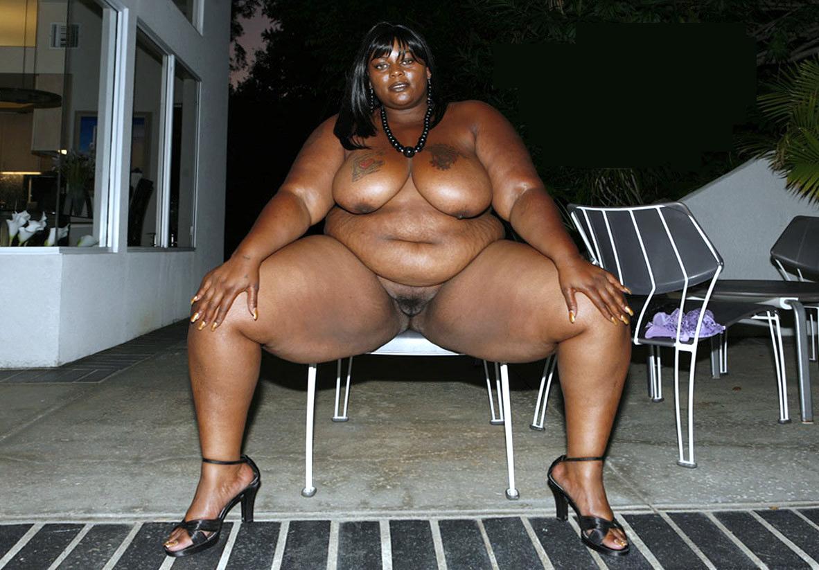 Fat black naked bitch