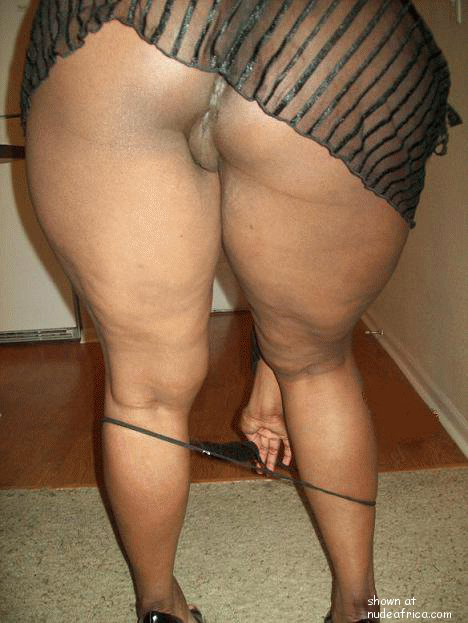 Muscular black woman with a strong body
